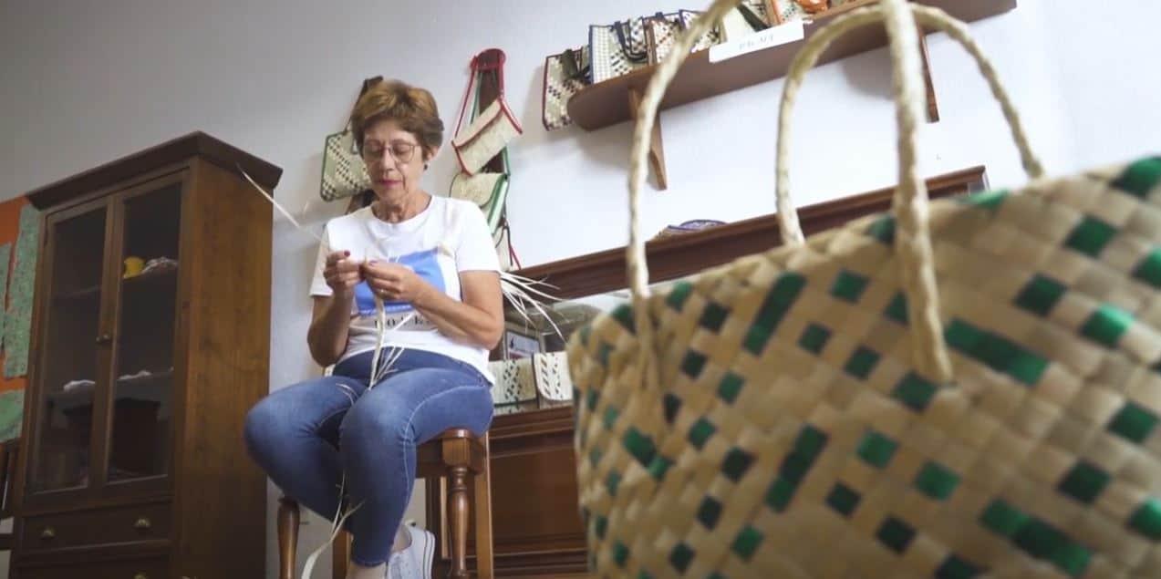 Margarita de Paz. Artesana en Cestería de Palma