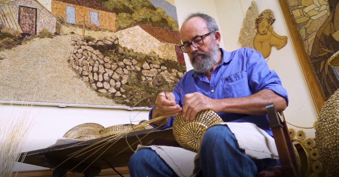 PEDRO ANTONIO CALDERÓN. CESTERÍA DE COLMO Y ZARZA